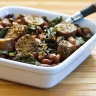 sausage-beans-greens-400x400-kalynskitchen